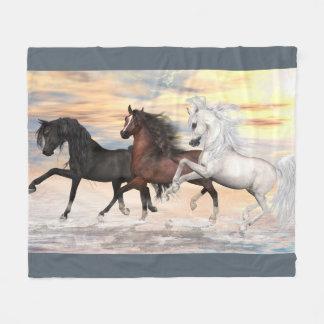"3 Arabians Fleece Blanket, 50""x60"""