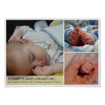 3 baby photo modern montage wall hanging art poster