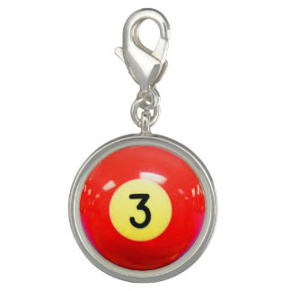 """3 Ball"" pool ball design jewelry set Charm"