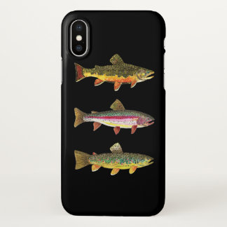 3 Big Fish for Trout Anglers iPhone X Case
