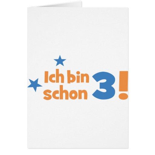 3 birthday greeting cards