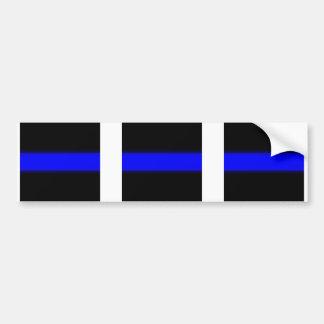 3 blue line window Sticker