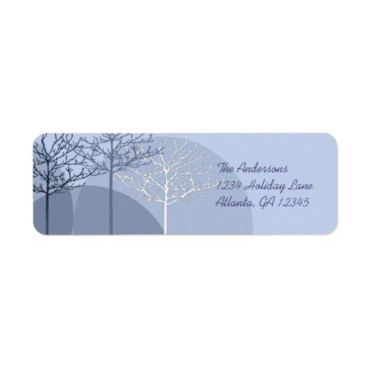 3 Blue Trees Return Address
