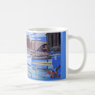 3 boats at Gloucester docks mug