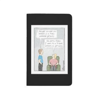 3-Book Weekend Black Pocket Journal