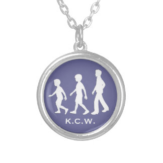 3 Brothers: Paper Cut-Out Style Boys Silver Plated Necklace