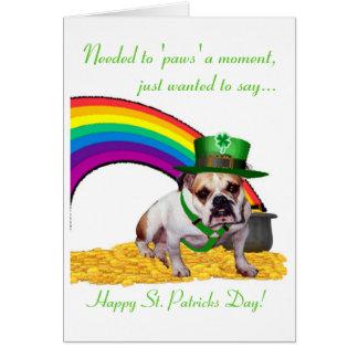 3. Bulldog St. Patricks Day Card