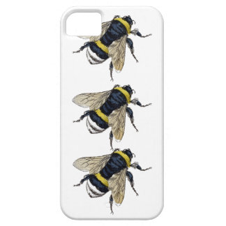 3 Bumble Bees Walking Be Unique Vintage Design Case For The iPhone 5