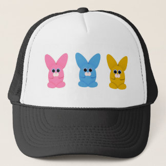 3 buns trucker hat