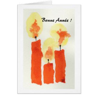 3 Candles , Bonne Année ! Card