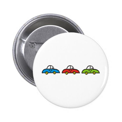 3 cars pinback button