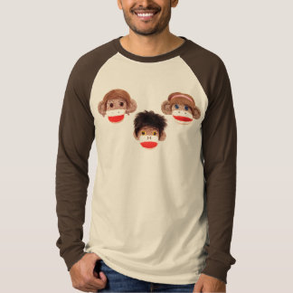 3 cheeky little monkeys trio T-Shirt