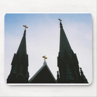 3 Church Steeples Mouse Pad