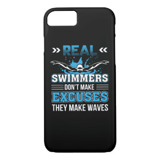 3 CL290717  Swimmer - Real Swimmer Dont Make Excus iPhone 8/7 Case