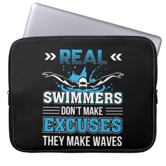 3 CL290717  Swimmer - Real Swimmer Dont Make Excus Laptop Sleeve