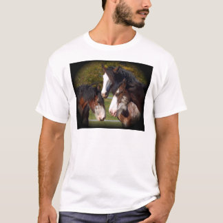 3 clydesdale heads T-Shirt