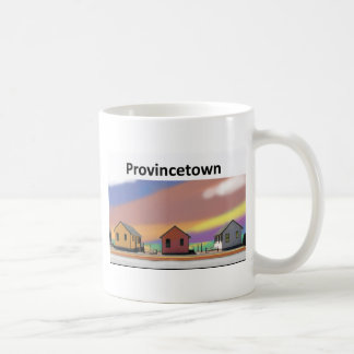 3 cottages ptown white coffee mug