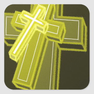 3 Crosses Square Stickers