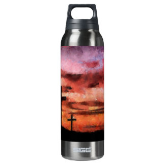 3 crosses sunset painting SIGG thermo 0.5L insulated bottle