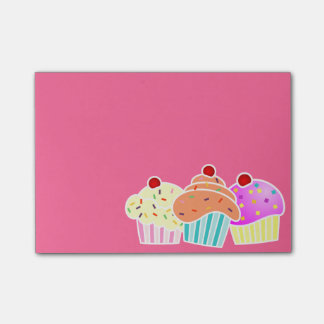 3 Cupcakes Sticky Note