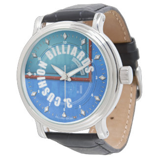 3 Cushion Billiards clock with more leather Wristwatches