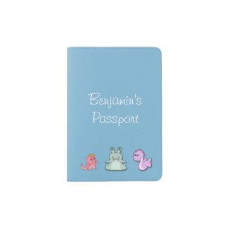 3 Cute Monsters Passport Holder