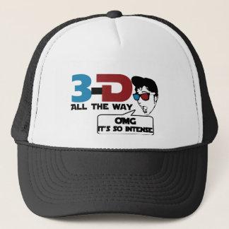 3-d all the way retro glasses trucker hat
