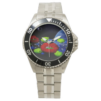 3-D Asteroid Golf Mens watch