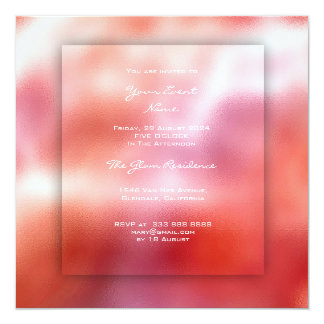3-D Blue Ombre Grass Pink Candy Peach Coral Card