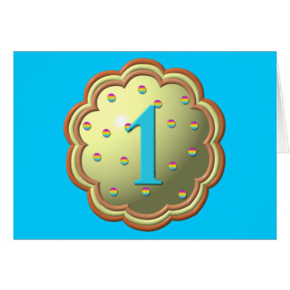 """""""3-D"""" Cupcake w/sprinkles and the # 1 Greeting Card"""