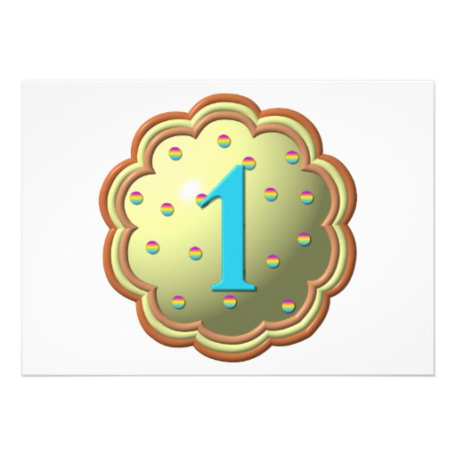"""""""3-D"""" Cupcake w/sprinkles and the # 1 Personalized Announcement"""