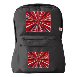 3-D explosion in Patriotic Colors Backpack