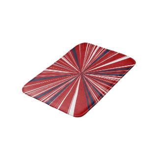 3-D explosion in Patriotic Colors Bathroom Mat