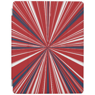 3-D explosion in Patriotic Colors iPad Cover