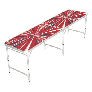 3-D explosion in Patriotic Colors Pong Table