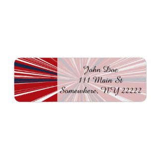 3-D explosion in Patriotic Colors Return Address Label
