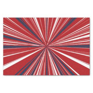 3-D explosion in Patriotic Colors Tissue Paper