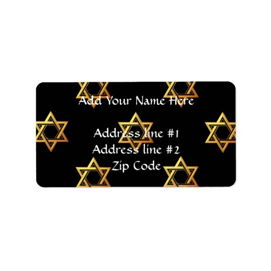 """3-D"" Golden Star of David"