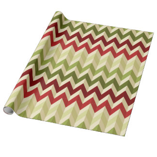 3-D Illusion Zig Zag in Warm Christmas Colours