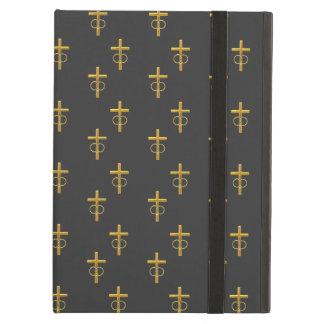 """3-D"" Look Golden Cross with Wedding Rings iPad Air Case"