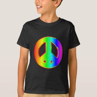 3-D Rainbow Peace Sign #1 T-Shirt
