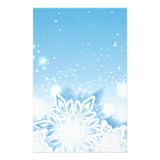 3-D snowflakes Custom Stationery