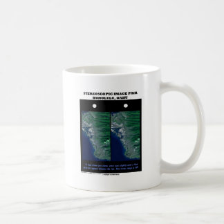 3-D Stereoscopic Image Pair Honolulu, Oahu Classic White Coffee Mug