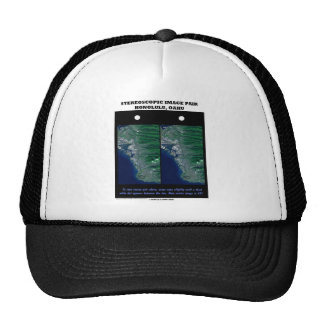 3-D Stereoscopic Image Pair Honolulu, Oahu Trucker Hat