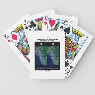 3-D Stereoscopic Image Pair Honolulu, Oahu Poker Deck