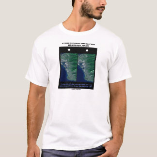 3-D Stereoscopic Image Pair Honolulu, Oahu T-Shirt