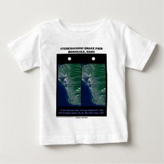 3-D Stereoscopic Image Pair Honolulu, Oahu Tee Shirts