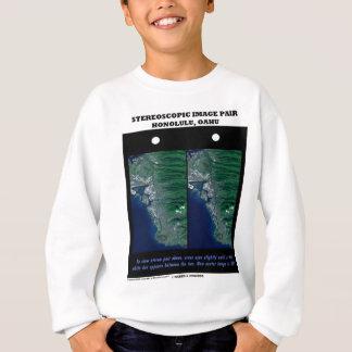 3-D Stereoscopic Image Pair Honolulu, Oahu Tshirts
