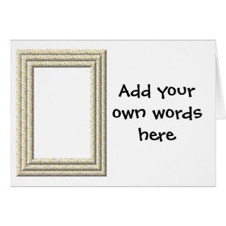 """""""3-D"""" White Daisies Frame Card"""