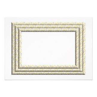 """3-D"" White Daisies Frame Custom Invitations"